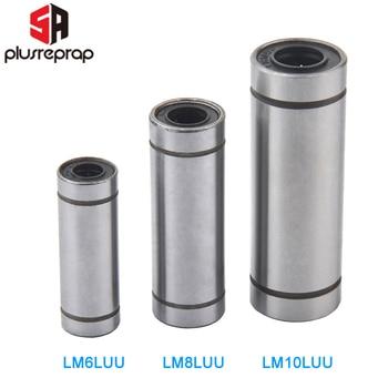 LM6LUU LM8LUU LM10LUU Longer Linear Bearing Bush Bushing for Smooth Bar Rod Shaft CNC 3D Printer Parts