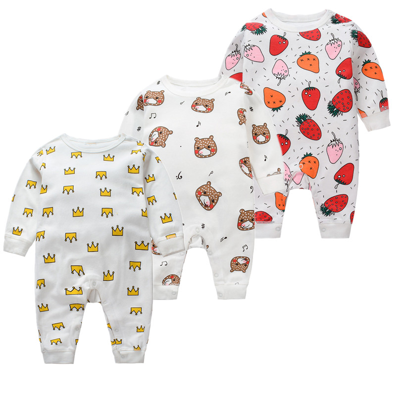 Spring And Autumn Baby Boys Girls Rompers 2018 New Children Cotton Baby Long Sleeved Ha Clothing