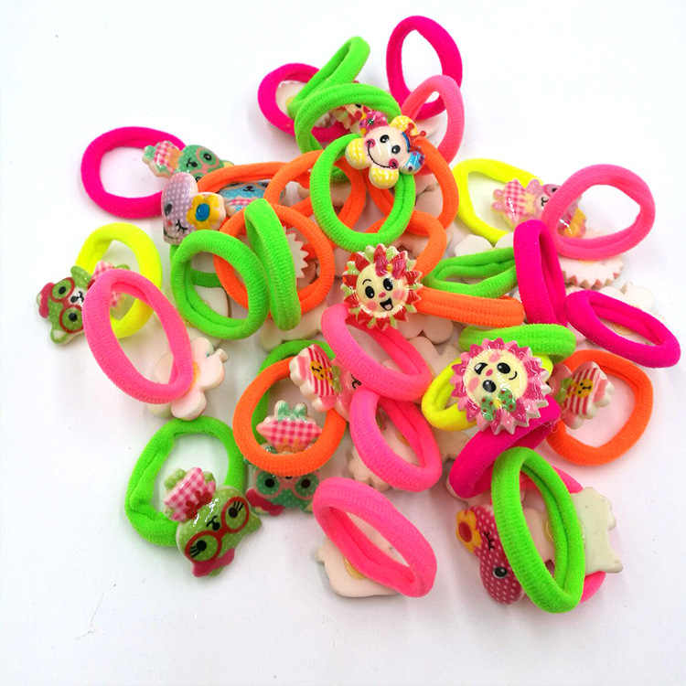 6 unids/lote peppa Pig pelo banda de goma de pelo de cabello de pelo clip horquilla para el pelo accesorios para chica chico hairband