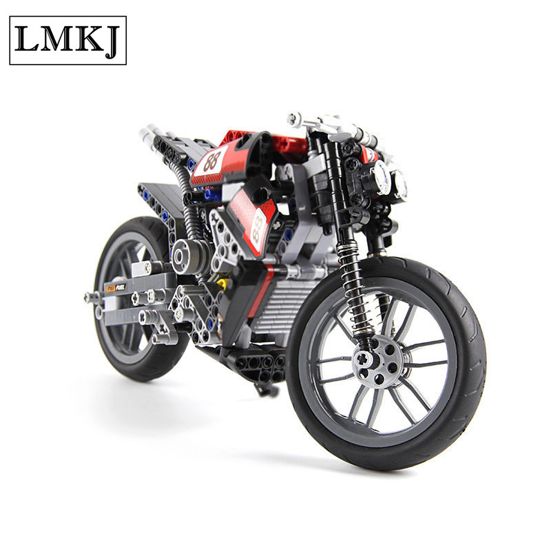 Hot Sale 378pcs Speed Motorcycle Building Blocks Bricks Toys for Boys Compatible With Legoingly Technic for Children Birthday