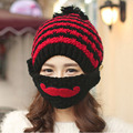 Winter Knitted Knight Helmet Beanies Hat For Men Skull Bonnets Balaclava Ski Snowboard Face Mask Sombreros Hombre Gorros Carhart