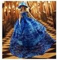 Высокое качество Ручной Работы Подарки Для Девочек большой довольно Свадебное Платье Одежда Для Барби 1:6 Кукольный BBI00243