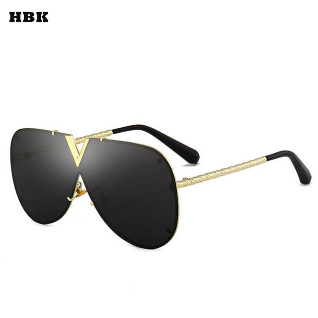 HBK 2018 Itália Marca Avaitor Óculos De Sol Das Mulheres De Vidro De Tamanho  Grande Moda 663b05b98a