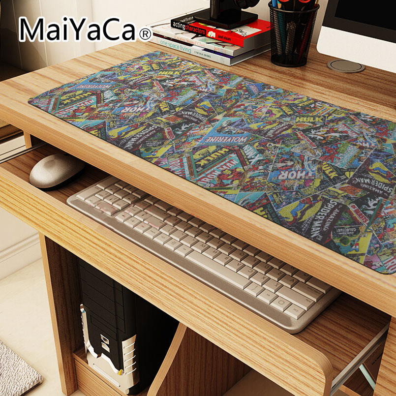 2018 Hot Sale Mouse Pad Anime alfombrilla raton large Locking Edge Keyboard mouse pads Table Mat For PC Laptop Mouse