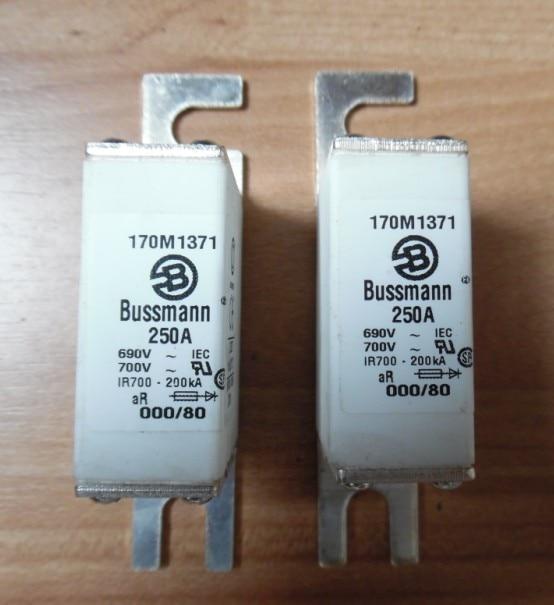Bussmann fuse import fuse 170M1371 250A 690V aR 170M1372 american original fuse bussmann 170m1371 170m1371d 250a 690v fuse