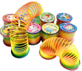 Nova Magia Slinky Rainbow Springs Bounce Fun Toy Kid Crianças Toy Aleatoriamente
