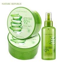 Nature Republic Korean Skin Care Moisturizing Set Aloe Vera Gel+Aloe Spray Acne Remove Face Cream
