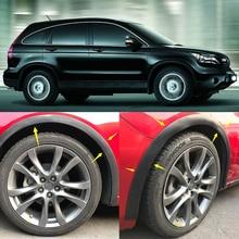 4pcs Universal Car Truck Carbon Fiber Rubber Wheel Eyebrow Protector Lip Sticker Trim Fender Flare Anti-scratch fit for Honda стоимость