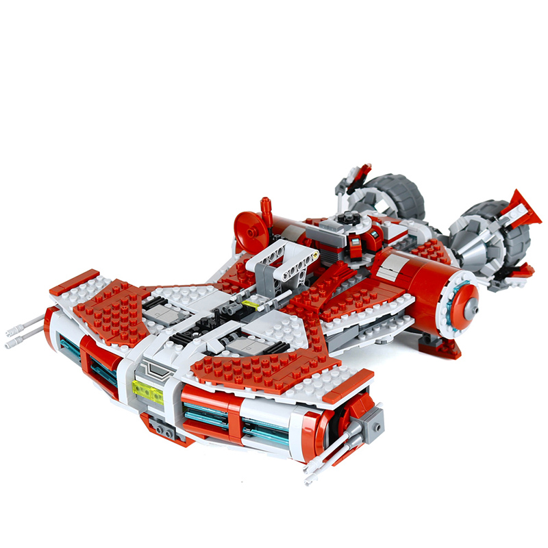New Lepin 05085 Star Series War The Defender Class Cruiser Set Building Blocks Bricks Educational Toys Gift With 75025 lepin 05085 genuine star war series the jedi defender class cruiser set building blocks bricks toys clone 75025