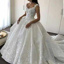 kissbridal Luxury Train Wedding Dresses 2019 Sleeveless
