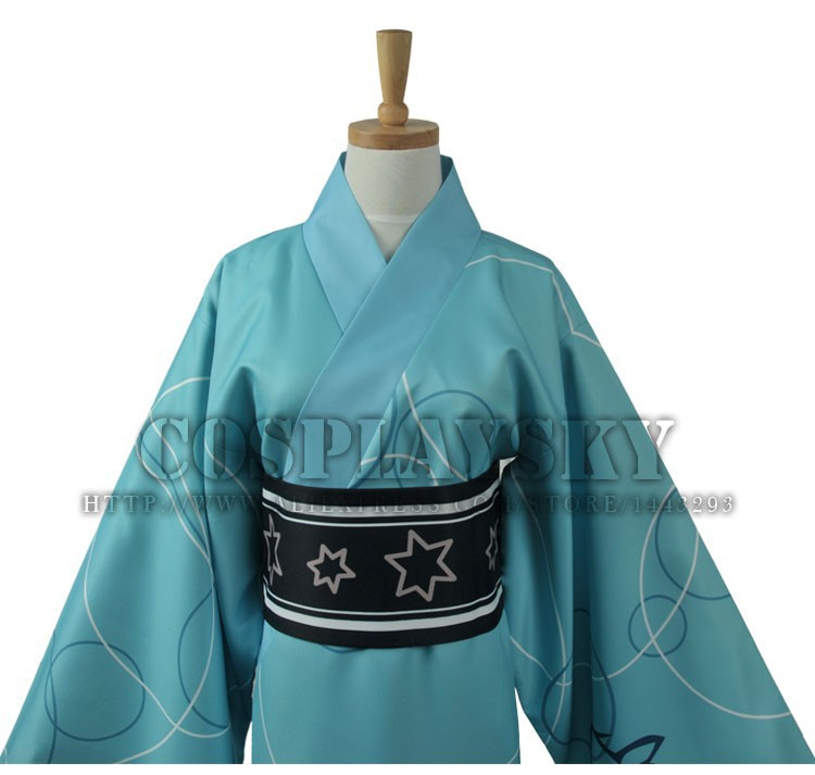 Vocaloid Hatsune Miku Project DIVA Yukata Kimono Kaito Cosplay Costume_04