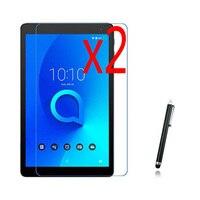"3in1 2x LCD Clear Filme Protetor de Tela Películas Protetoras Guards + 1x Stylus Para Alcatel 1 T 7.0 7"" /1 T 10 10.1 ""Tablet|Protetores de tela p/ tablet| |  -"
