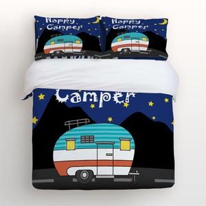 Duvet Cover Set, Happy Camping