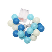 2.3 meters 20 light color cotton ball ball battery string light Christmas Tree Decoration pendant lantern series