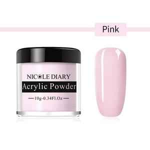 Image 3 - NICOLE DIARY Acrylic Powder 10ml Tip Extension French Nail Polymer Powder Nail  Builder Nail Polymer Nail Tools