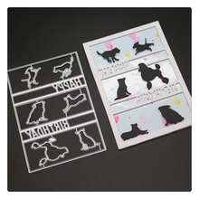 YINISE Scrapbook Metal Cutting Dies For Scrapbooking Stencils ANIMALS CAT DIY Album Cards Decoration Embossing Folder Die Cut