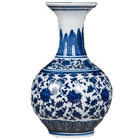 Jingdezhen Ceramics Antique Blue And White Porcelain Vase Chinese Home Decoration Wine Cabinet Living Room Shelf Decoration 25