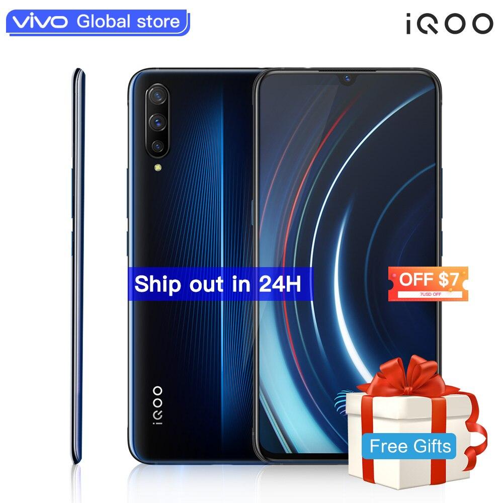 Авторизованный мобильный телефон vivo celular iQOO Android 9 Snapdragon 855 NFC type C 4000 mAh 44 W быстрая зарядка крутой 4D игровой мобильный телефон