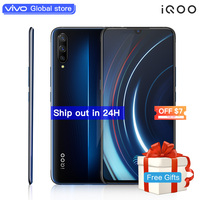 Authorized vivo celular iQOO Mobile Phone Android 9 Snapdragon 855 NFC Type C 4000mAh 44W Fast Charge Cool 4D Game Cellphone