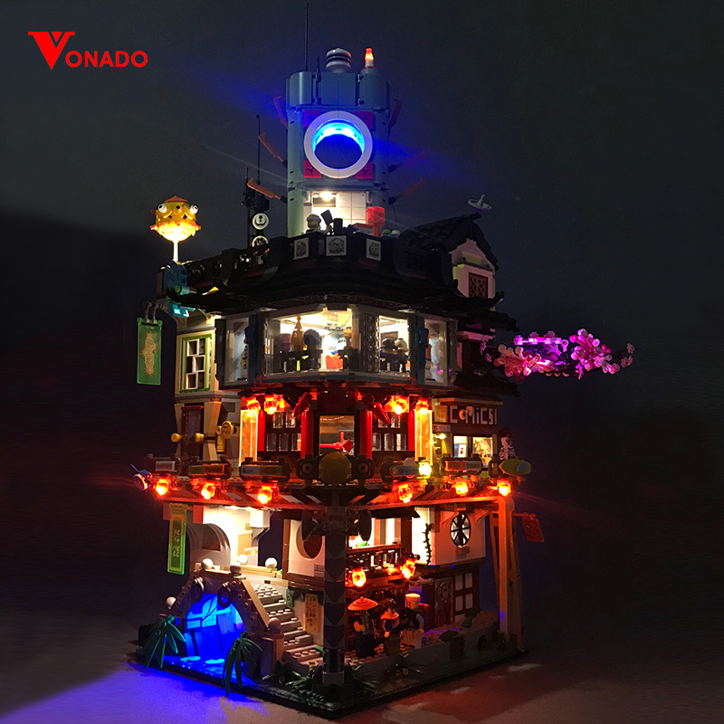 Led light forLepin06066 Ninjago City Master of Spinjitzu Building Block Brick Toy70620 Educational Toys Birthday Gift(only light