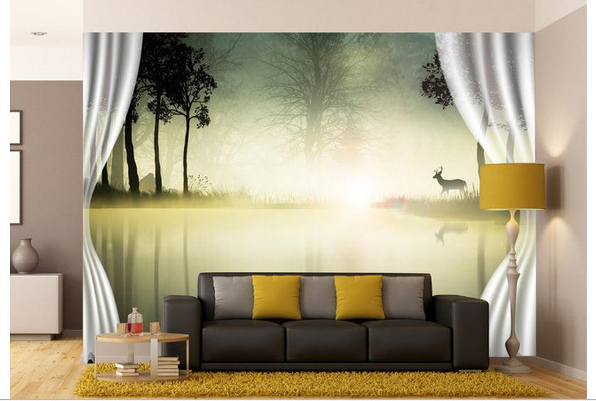 High Quality Competitive Price Hot Sale Fashion 3D Custom Wallpaper 2015  Background Scenery Curtain Wall Mural Home Decoration In Wallpapers From  Home ... Part 17