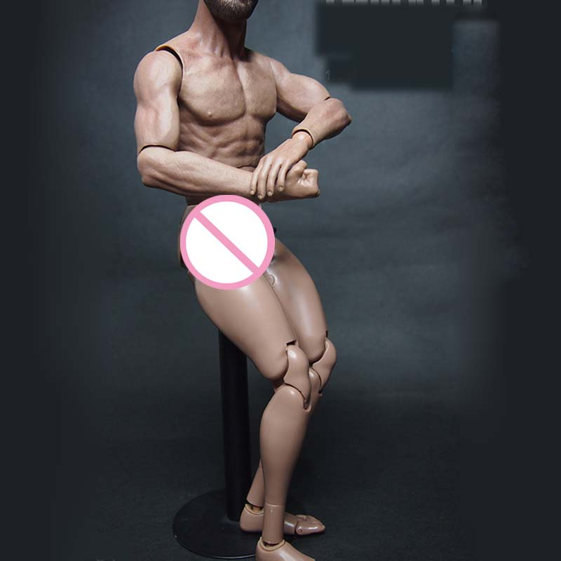 Custom Wide Shoulder Action Figure Male Nude Body Muscular 1:6 Scale for TTM