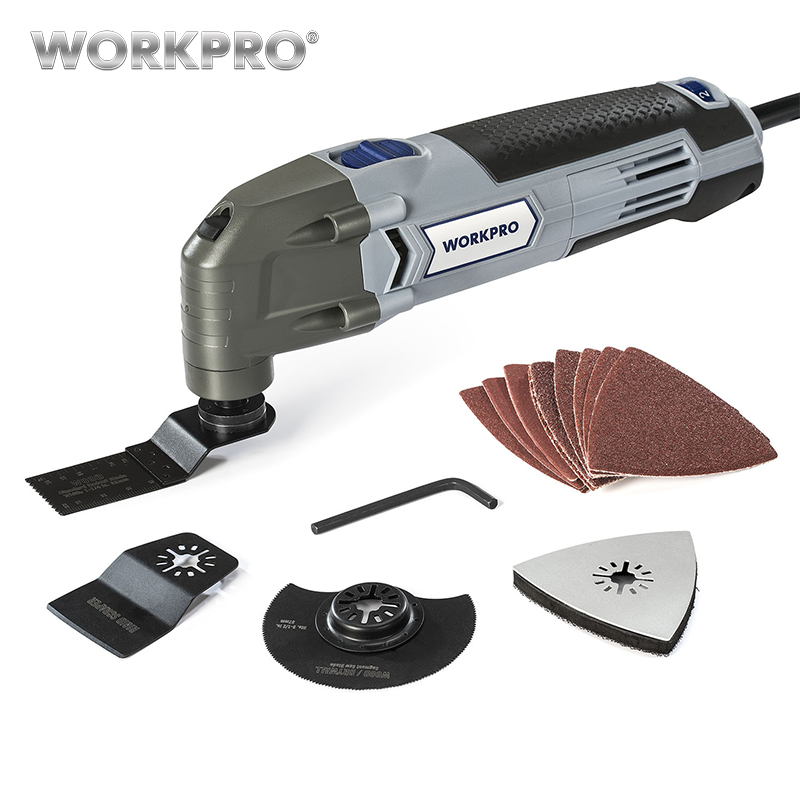 WORKPRO 220V Electric Trimmer Saw for Wood Working 300W Power Oscillating Multi Tool Home DIY Power