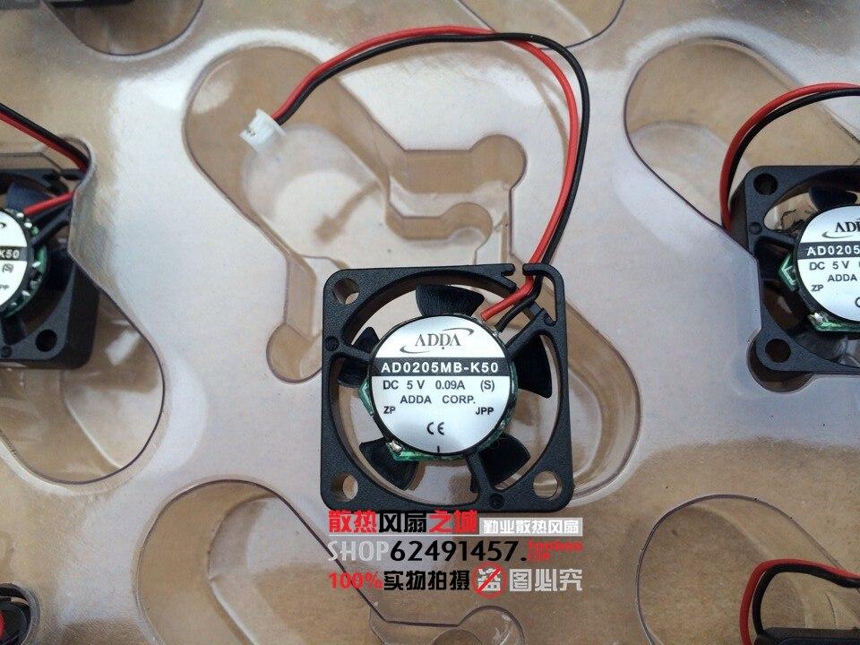 ADDA AD0205MB-K50 DC 5V 0.07A 25x25x07mm Server Square fan