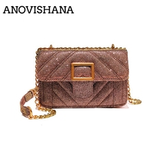 ANOVISHANA Women Glitter Clutch Purse Crossbody Bag Student Slant Across  Chain Bag Sweet Lady Style College 6ad5f996747c