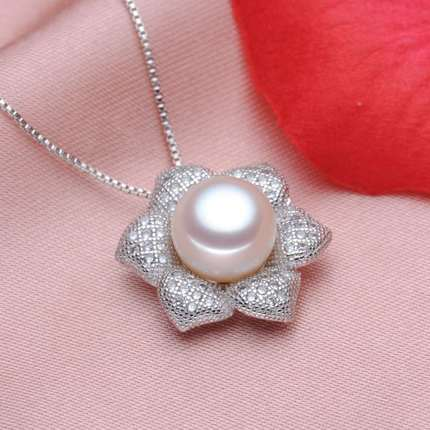 pearl jewelry necklace and earring set