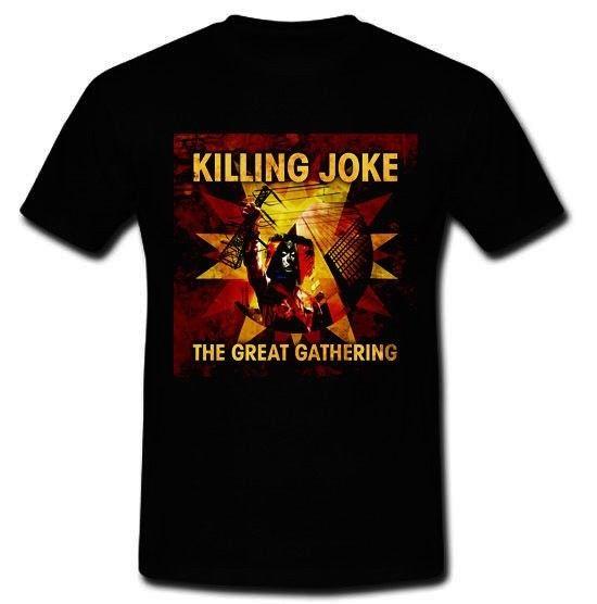 KILLING JOKE THE GREAT GATHERING LONDON POST-PUNK BAND T-SHIRT TEE S M L XL 2XLMen t shirt Popular Anime T-shirts