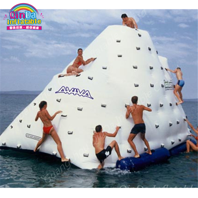 Durable 0.9MM PVC Tarpaulin Inflatable Iceberg,Inflatable Climbing Mountain Water Float Island Made In China commercial inflatable water slide with pool made of pvc tarpaulin from guangzhou inflatable manufacturer