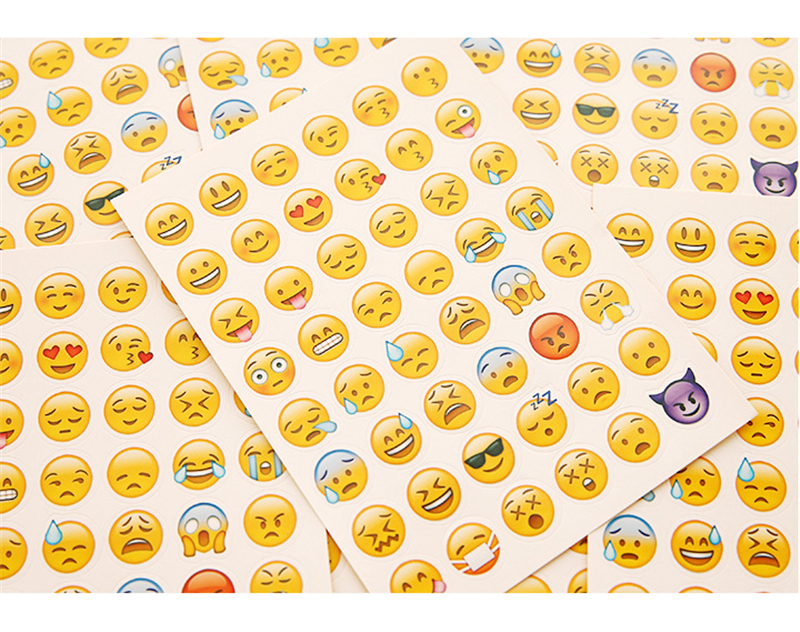 Popular 10 Pcs Cut 480 Classic Emoji Smile Face Stickers Funny Creative For Notebook Albums Message Twitter Toy