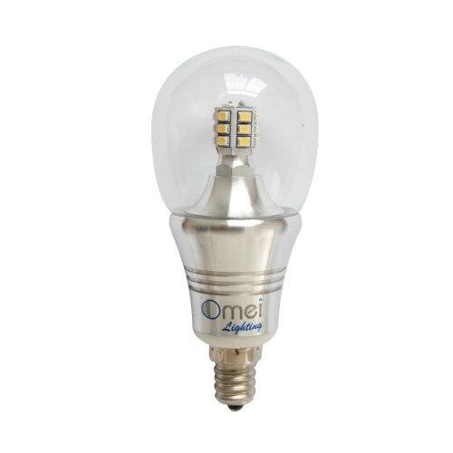 E12 lumière LED ampoules Dimmable lumière du jour chaude blanc froid 60 w lumière LED ampoule