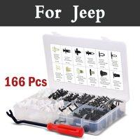 166 pz Car Styling Rivetti Kit-12 Formati Popolari Pannello Corpo clip e Fissaggio Fermo Set Per Jeep Cherokee Compass Grand Srt8