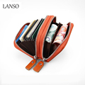 Men/Women Fashion Genuine Leather Wallet ID Credit Cards Holder Organizer Purse Business Cards Wallet Bank Cards Bag