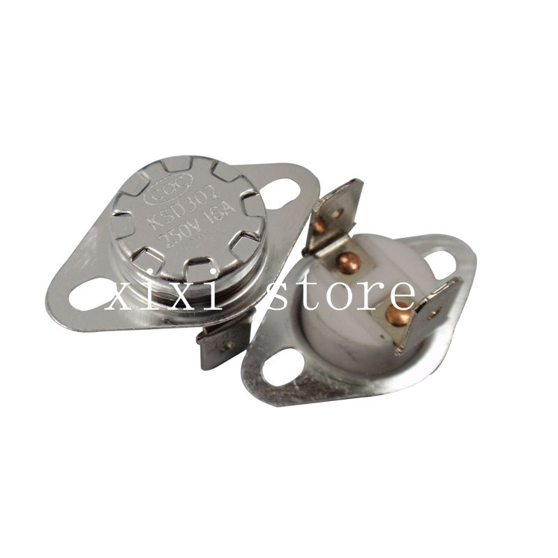 2 Pieces KSD301 140C Normal Closed Ceramic Thermostat Switch