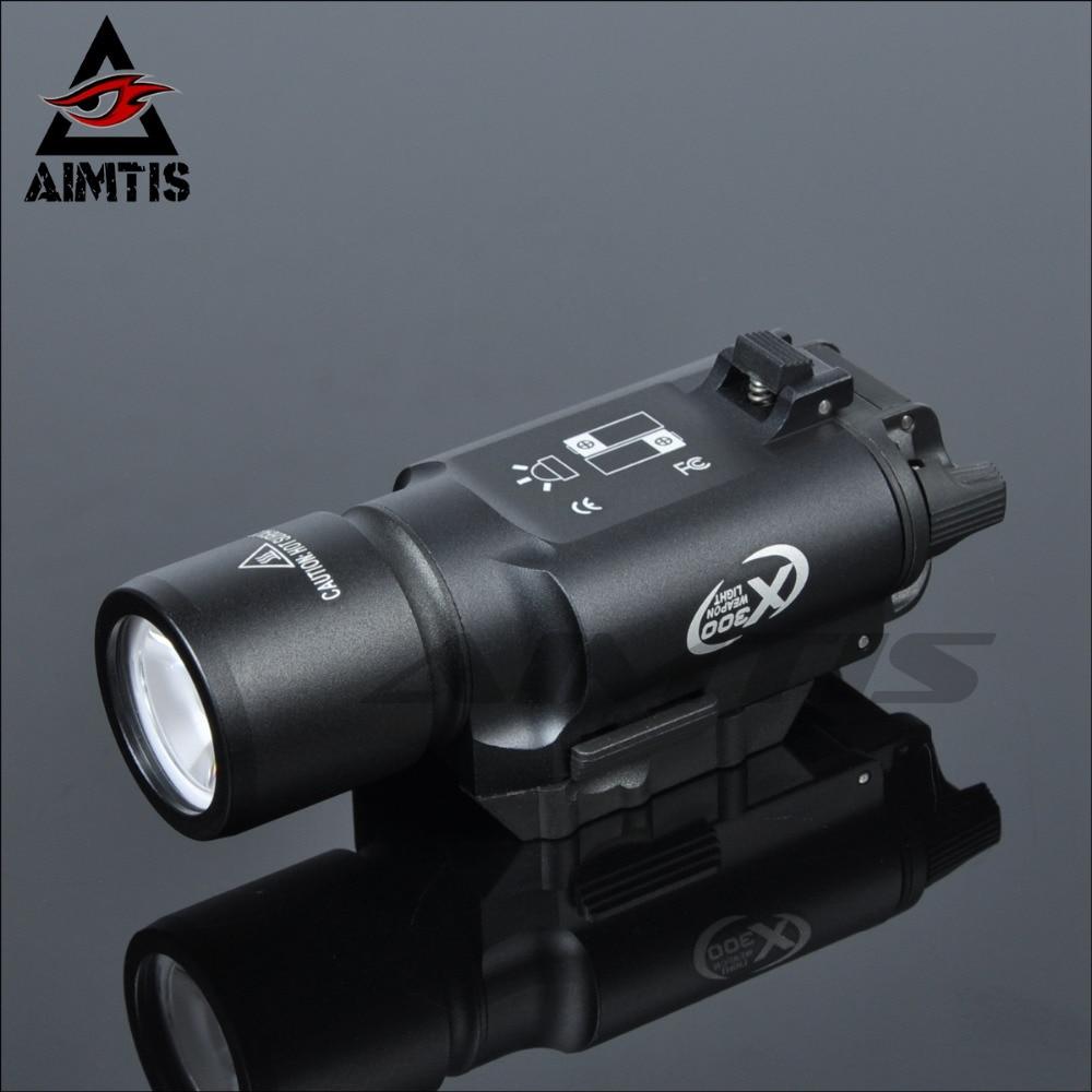 Aimtis tático x300 ultra arma led luz