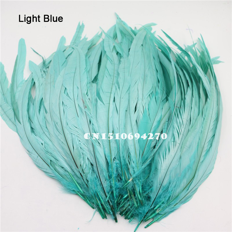 8 to 10 inches 50 BLUE COQUE ROOSTER TAIL FEATHERS