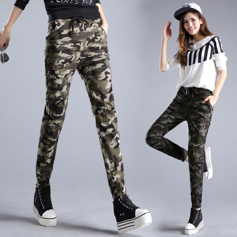 Popular Home  WOMEN  Bottoms  Pants  Camo Army Jogger Pants