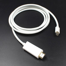 New Male to Male 1.8M Mini DP to HDMI Cable Thunderbolt Mini Displayport to HDMI Adapter for Macbook Pro Air for iMac