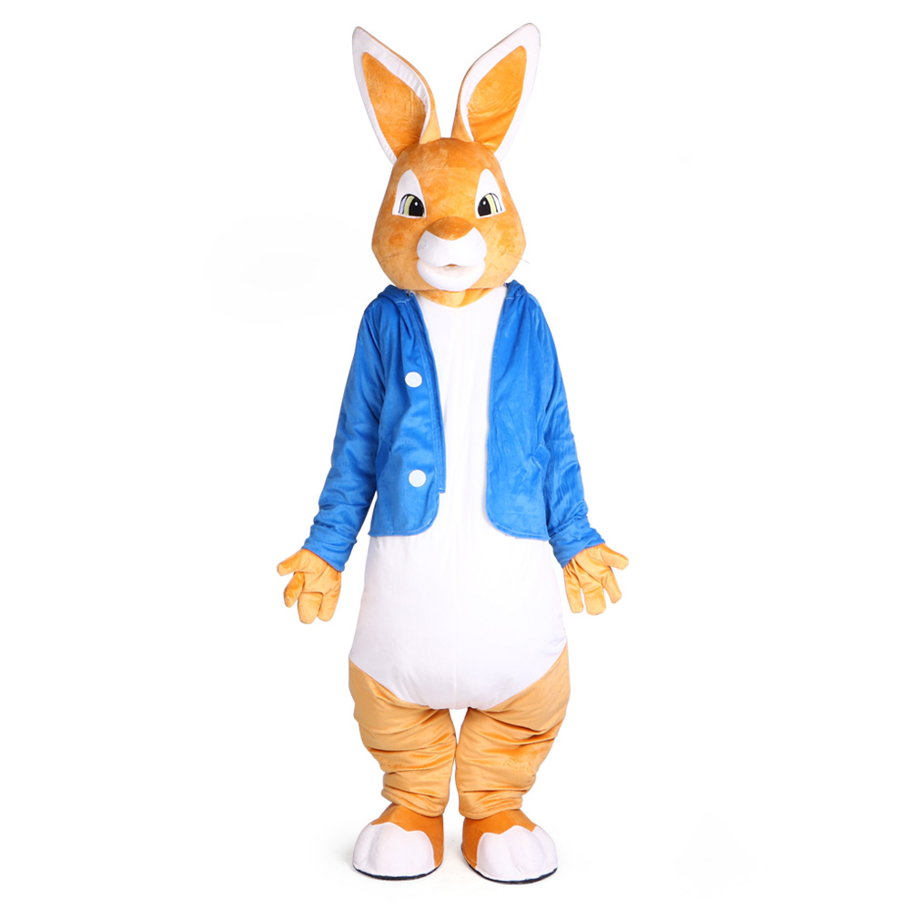 Peter Rabbit Mascot Costumes Christmas Unisex Mascots Suit Fancy Dress for Adult full outfit Hallween Purim