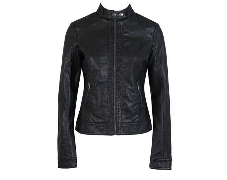 New Women Jacket Europe Fashion Leather Jacket Pimkie Wash Single PU Leather Motorcycle Temale Women Leather Jacke