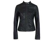 Новый Женский Жакет Европа Мода Кожаная Куртка Pimkie Мыть Одного PU Кожа Мотоцикл Temale Женщины Кожа Jacke