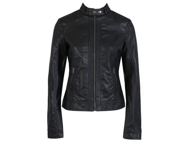 Novas Mulheres Jaqueta Jaqueta de Couro Europa Moda Pimkie Lavagem Único Mulheres Jacke De Couro PU de Couro Da Motocicleta Temale