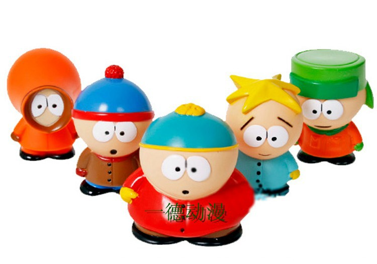 5pcs/lot Box-Packed! PVC Figure South Park Mini Display Figure Toys South Park Stan Kyle Eric Kenny Butters Action Figures