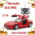 Новый Год Подарок 1/14 Mercedes SLS AMG RC Родстер Автомобиля Чайки крыло Двери Модель Drift Гонки Скорость Дистанционного Управления Автомобиля Игрушки Подарок