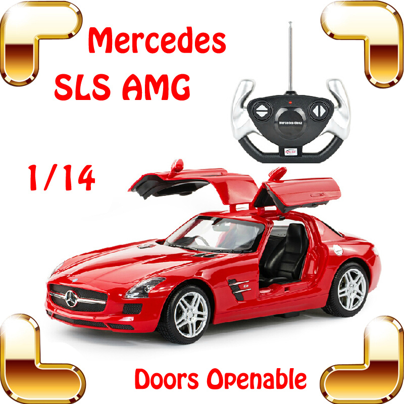 ФОТО New Year Gift 1/14 Mercedes SLS AMG RC Roadster Car Gull Wing Door Model Drift Racing Speed Remote Control Vehicle Toys Present