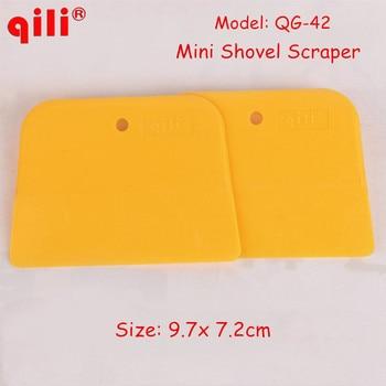 1000/pack DHL Free QILI QG-42 MINI Shovel Scraper Window Film install Squeegee Car Sticker Wrapping Tool