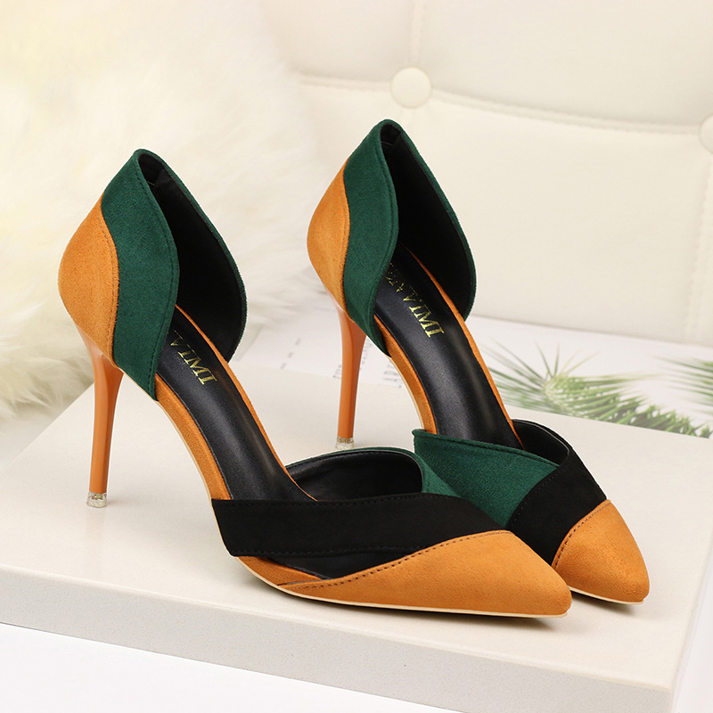 Fashion High Heels Women Pumps Plus Size Women Shoes Kitten Heels Lady Shoes Female Suede Comfort Wedding Shoes Women Sandals